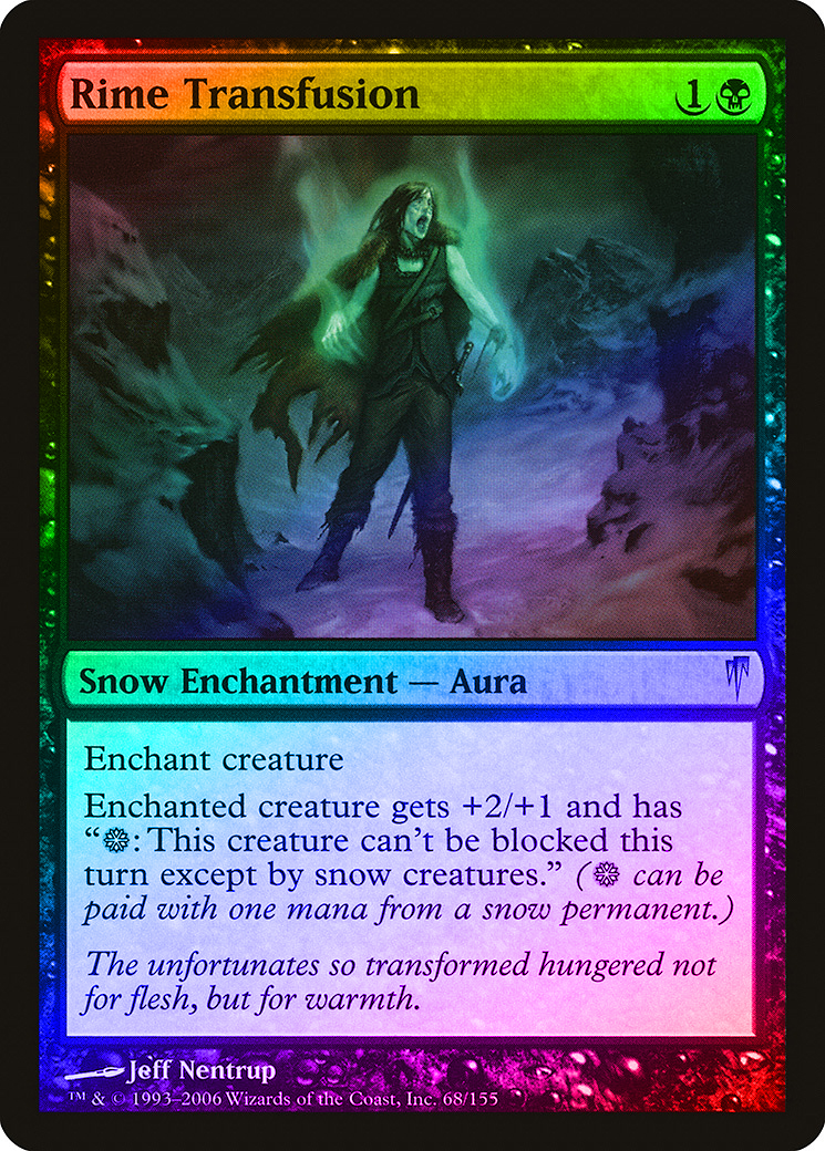 Rime Transfusion FOIL Coldsnap NM-M Black Uncommon MAGIC GATHERING CARD ABUGames