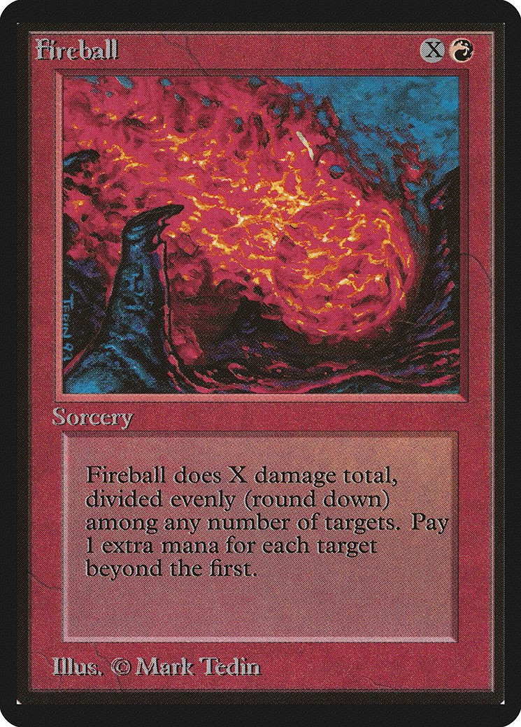 Fireball Beta NM-M Red Common MAGIC THE GATHERING MTG CARD ABUGames