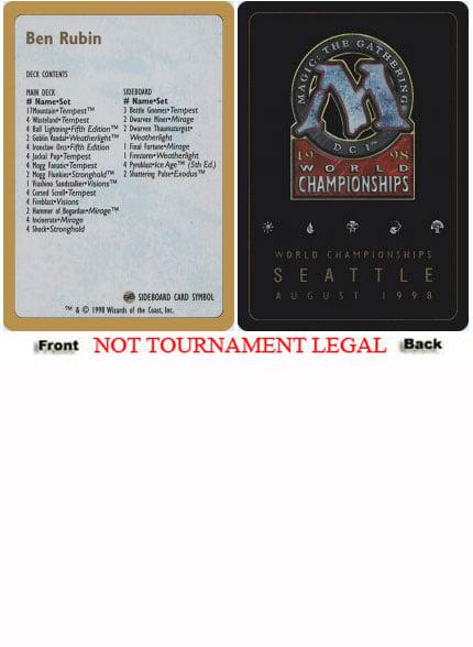 1x Icy Manipulator 1996 NM-Mint English World Championship Bertrand Lestree