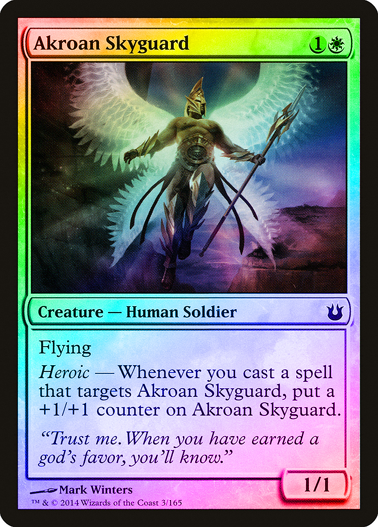 NM Foil MTG Arbiter of the Ideal Born of the Gods