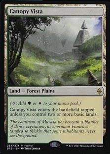 Canopy Vista Battle for Zendikar NM Land Rare MAGIC GATHERING CARD ABUGames