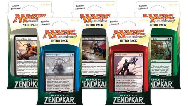 ENGLISH SEALED NEW MAGIC ABUGames Battle for Zendikar Intro Pack Set of Five